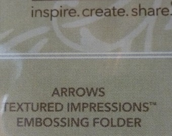 Arrows Texture Impressions Embossing Folder - Stampin' Up! - one piece NIP