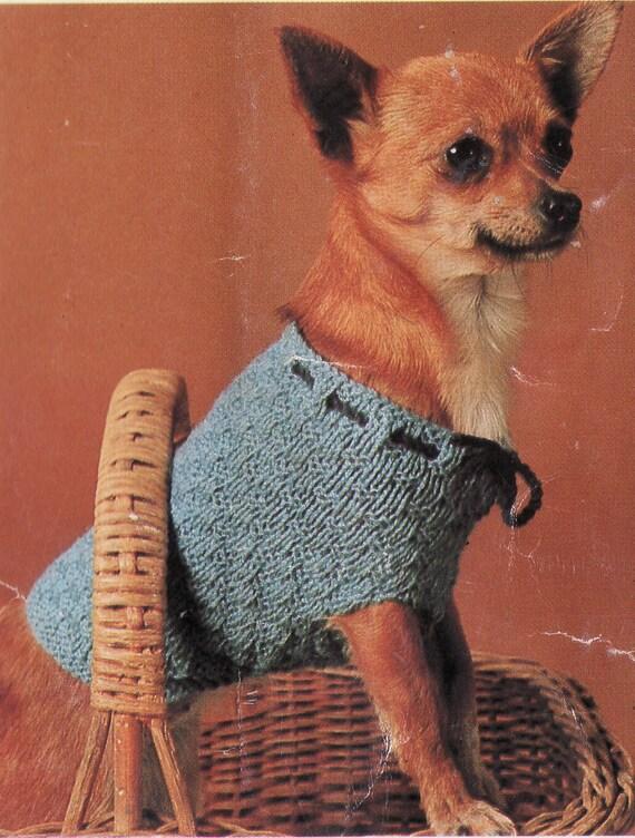 Knitting Pattern Dog Sweater Chihuahua : Items similar to Knitting Pattern PDF, Dog Coat Pattern ...