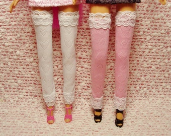 Barbie Doll Accessories - Leggings - Thigh-High Heart Stretch Stockings - Leggings/Stockings only.