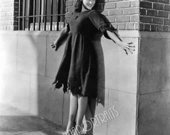 "PAULETTE GODDARD 5x7 or 8x10 Photo Print Hollywood 1936 ""Modern Times"" Movie Still, Vintage Golden Age of Hollywood Portrait"