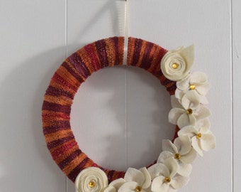 Fall colors 10 inch wreath
