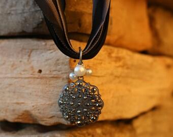 Victorian Satin Ribbon Necklace