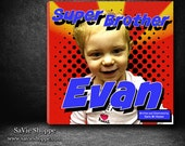 Personalized Children's Book, Personalized Comic Book, Superhero Book, New Baby Book, Big Brother Book, Big Sister Book