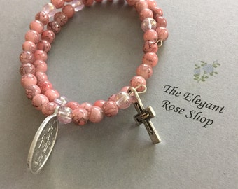 ON SALE!!  Was 18 dollars now 15.00!  Beautiful Rosary Wrap Bracelet