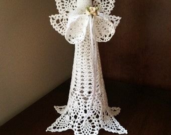 Crochet angel, tree topper, made to order