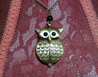 OWL Pocket Watch bronze.