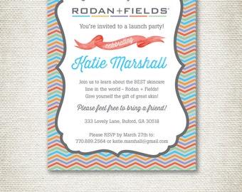 Rodan and Fields Invitation Chevron Design