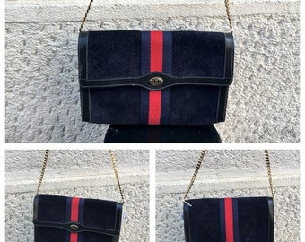 70/80s Authentic Gucci Leather Suede Bag