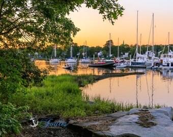 Wickford Summers ~ Wickford, Rhode Island, Boats, New England, Ocean, Coastal, Seascape, Art, Photograph, Artwork, Sailboats, Sunset