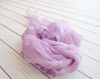 Newborn Cheesecloth Wrap, Lavender Baby Wrap, Maternity Cheesecloth Wrap