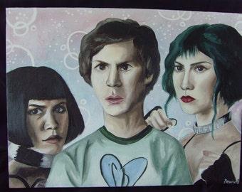 Scott Pilgrim Vs. The World acrylic canvas painting (40cm x 30cm)
