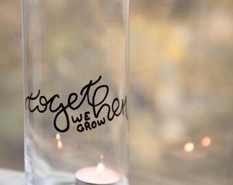 Together We Grow flower vase