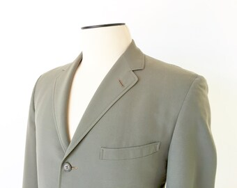 1960's Men's Sport Coat / Vintage Sport Coat / Vintage Jacket / Suit Jacket Olive Green Jacket / 41L / 41 Long