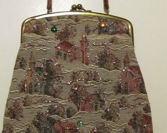 Sparkly Tapestry Purse