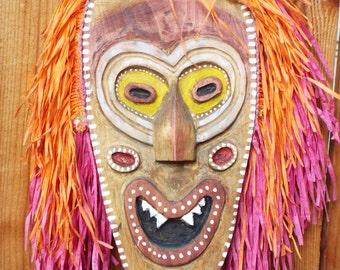 Hand Carved Disneyland Jungle Cruise Trader Sam Mask
