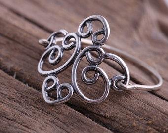 Thin filigree ring .Silver filigree ring. Delicate ring 925 silver. Jewelry for women. Sterling silver ring. Stacking ring. Stackable ring