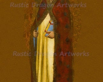 "Cecco di Pietro ""A Bishop Saint""  Reproduction Digital Print  Wall Hanging Religion Christianity"