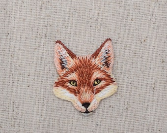 Red Fox - Head - Natural Animal - Embroidered Patch - Iron on Applique - 1516642-A