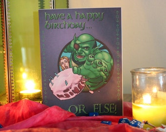 Dungeons and Dragons Birthday Card