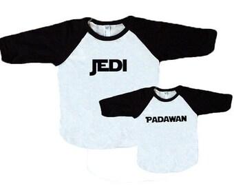 Star Wars Jedi and Padawan Shirt Set **Dad, father, son, mom, mother, daughter, matching, coordinate**