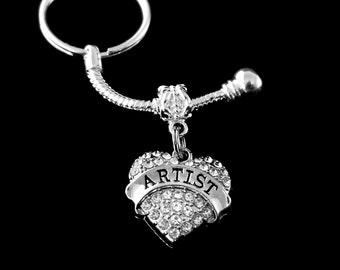 Artist keychain  Sculptor keychain  Painter keychain  Artist Charm key chain  European style artist keychain  best jewelry gift