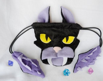Displacer Beast Dice Bag Dungeons and Dragons Plush DnD d20 Drawstring Pouch