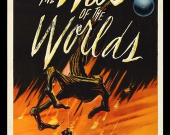 The War of the Worlds 1953 Movie Poster Stretched Art Canvas Choice of sizes available.