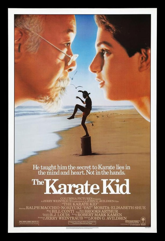 The Karate Kid 1984 Movie Poster Stretched Art by HKArtTrading