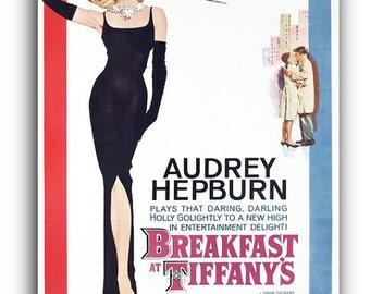 Audrey Hepburn Breakfast at Tiffany's Canvas Art Print A1 A2 A3 A4