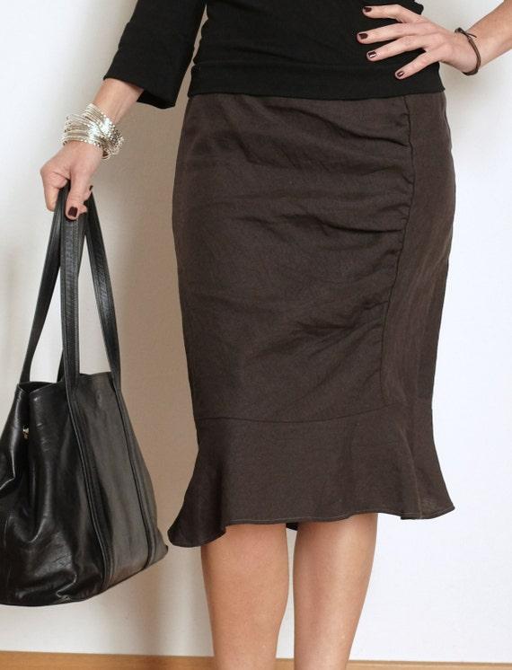 Womens Linen Skirt 106