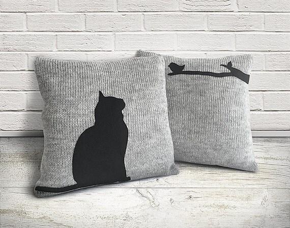 Housewarminggeschenk Kissen-Abdeckungen mit Katze neues Haus