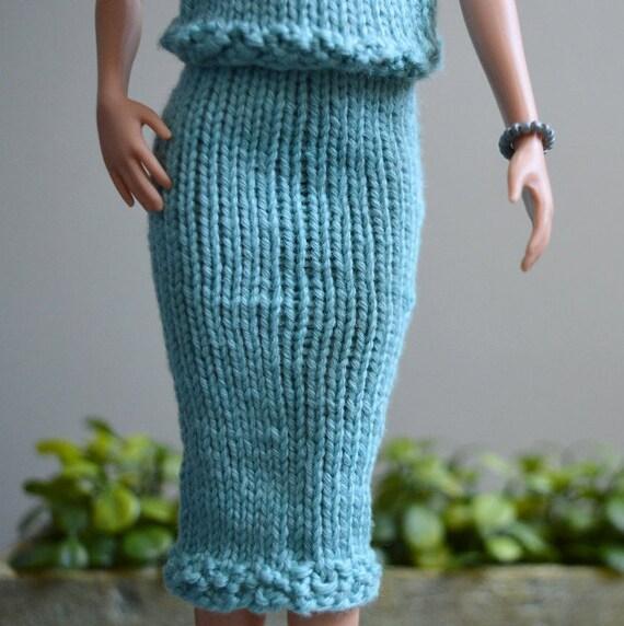 Barbie Doll Long Pencil Skirt Knitting Pattern by MettaCreative