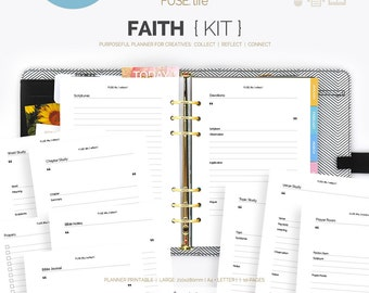 Large FUSE:life Faith Kit Planner Printables - Filofax, Kikki.K, Franklin Covey, Day Timer, Happy Planner, Disc planners (jes0211)