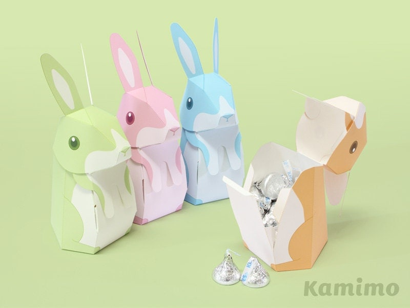 Easter bunny rabbit favor boxes gift boxes spring celebrations this is a digital file negle Images