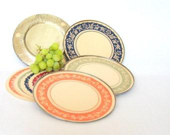 Silverim Plates; Reusable Paper Plates; Vintage Picnic; Motorboating