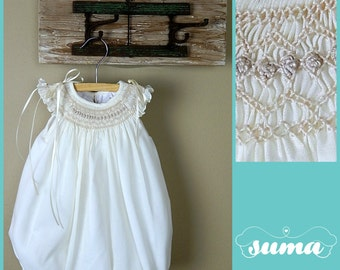 Baby Girl Bubble, Baby Girl Romper, Baby Girls Smocked Bubble Romper,  Hand Made Bubble Romper, 100% cotton