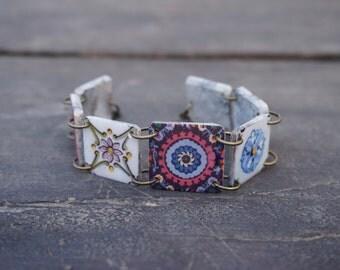Purple bracelet, Pink jewelry, Lilac bracelet, Violet jewelry, Pink bracelet, Statement bracelet, Lavender bracelet, Purple jewelry, Links