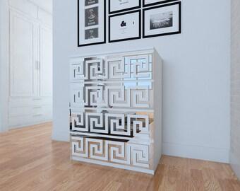 Greek Pattern - Key - Trellis - Lattice - Fretwork - Furniture Appliques - Makeover - Mirror - Furniture Applique - Refurbish - Sku: GRKPMI