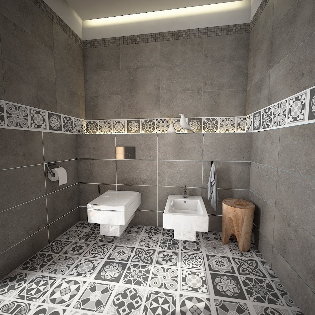 Bathroom floor vinyl tiles - Flooring Floor Tiles Floor Decor Vinyl Tile Floor Vinyl Tile Decals Bathroom Tile Decal Kitchen Tile Decal 32 Sku Greyfl