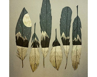 "Art Print: ""The Birds of Winter"""