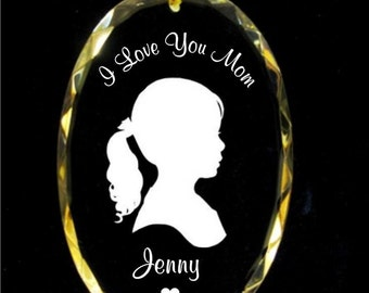 Personalized Crystal Silhouette Ornament