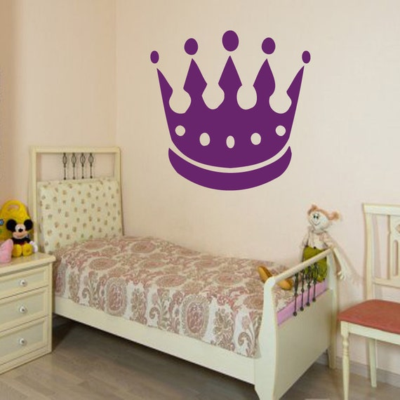 Baby Crown Wall Decor : Crown wall decals princess decal home by