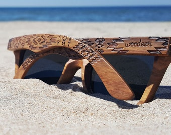 Kosso Wood Sunglasses.  Wooden Glasses by WOODEER Pattern Collection
