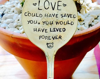 Pet Memorial, Pet Memorial Spoon, Garden Marker, Lost Pet, Sympathy Gift, Pet Marker, Dog Memorial Gift, Cat Memorial Gift, Pet Gift