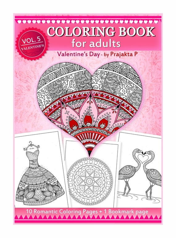 Adult Coloring Book For Valentines Day Diy By
