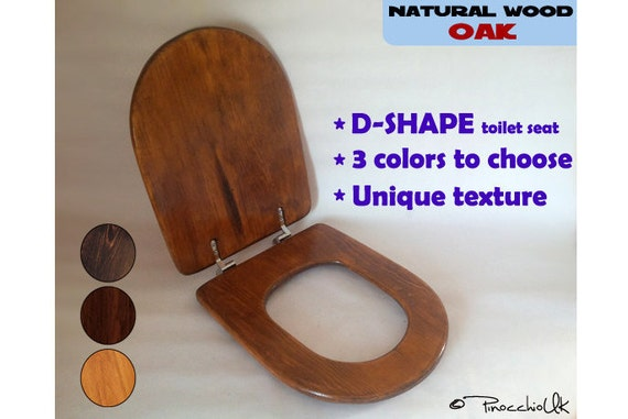 wooden d shaped toilet seat. Wooden Toilet Seat D SHAPE Oak Wood Lid By PinocchioUK Shaped  Home Decor Mrsilva Us