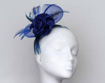 Royal Blue Fascinator Headpiece