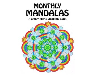 monthly mandalas coloring book printable adult coloring pages for adults and big kids a - Mandala Coloring Books For Adults
