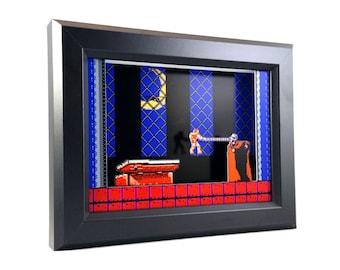 Castlevania (NES) Simon Vs. Dracula Shadow Box