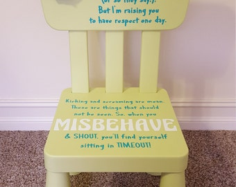 Time Out Chair - Neutral - Personalized - Children - Timeout Chair